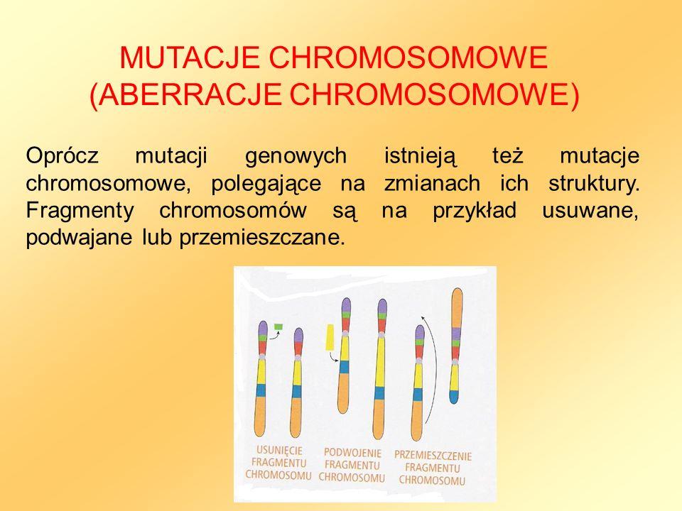 MUTACJE CHROMOSOMOWE (ABERRACJE CHROMOSOMOWE)