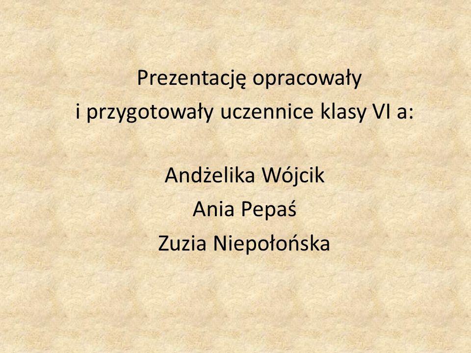 i przygotowały uczennice klasy VI a: Andżelika Wójcik Ania Pepaś