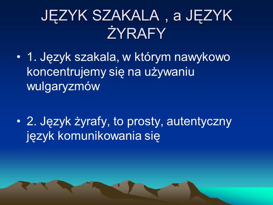 JĘZYK SZAKALA , a JĘZYK ŻYRAFY