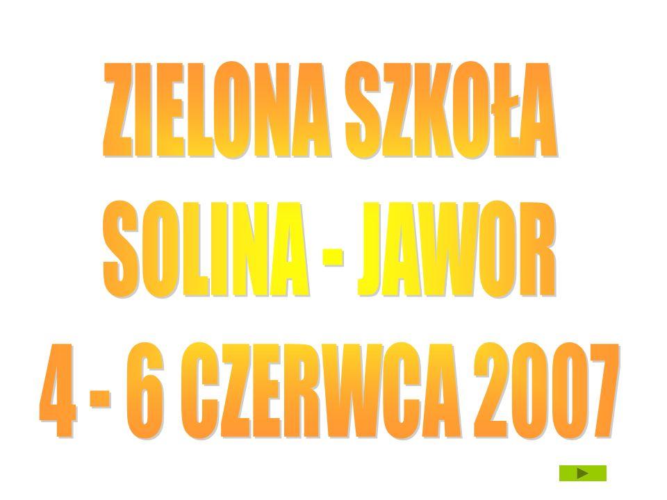 ZIELONA SZKOŁA SOLINA - JAWOR 4 - 6 CZERWCA 2007
