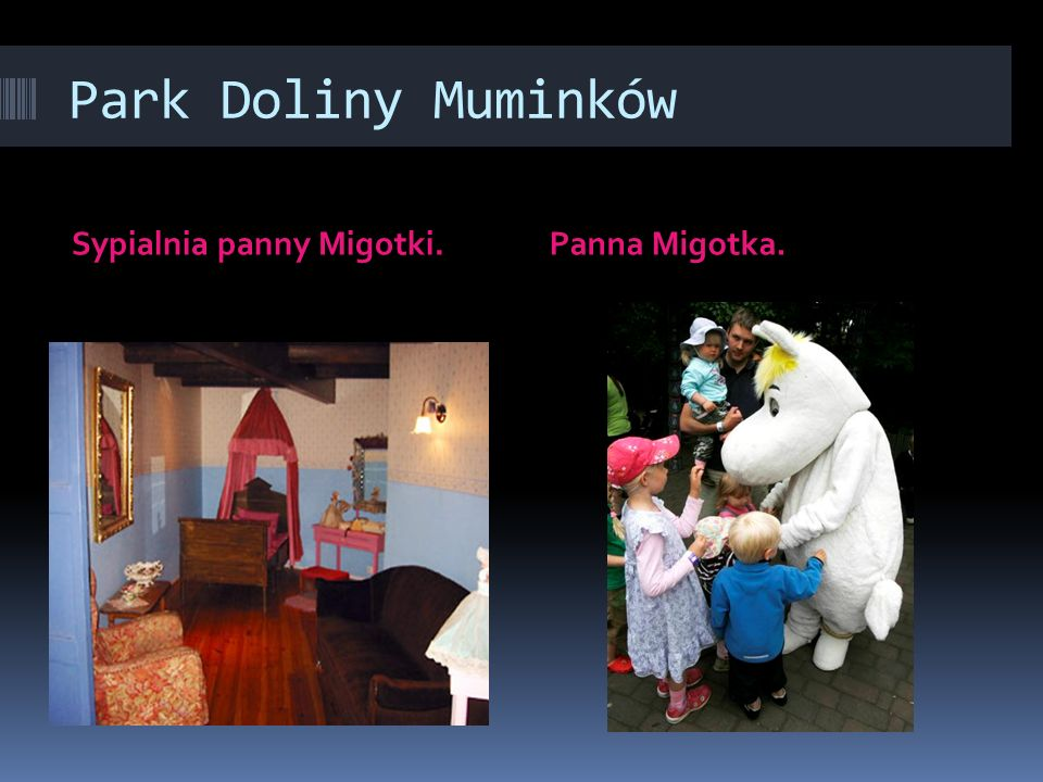 Park Doliny Muminków Sypialnia panny Migotki. Panna Migotka.