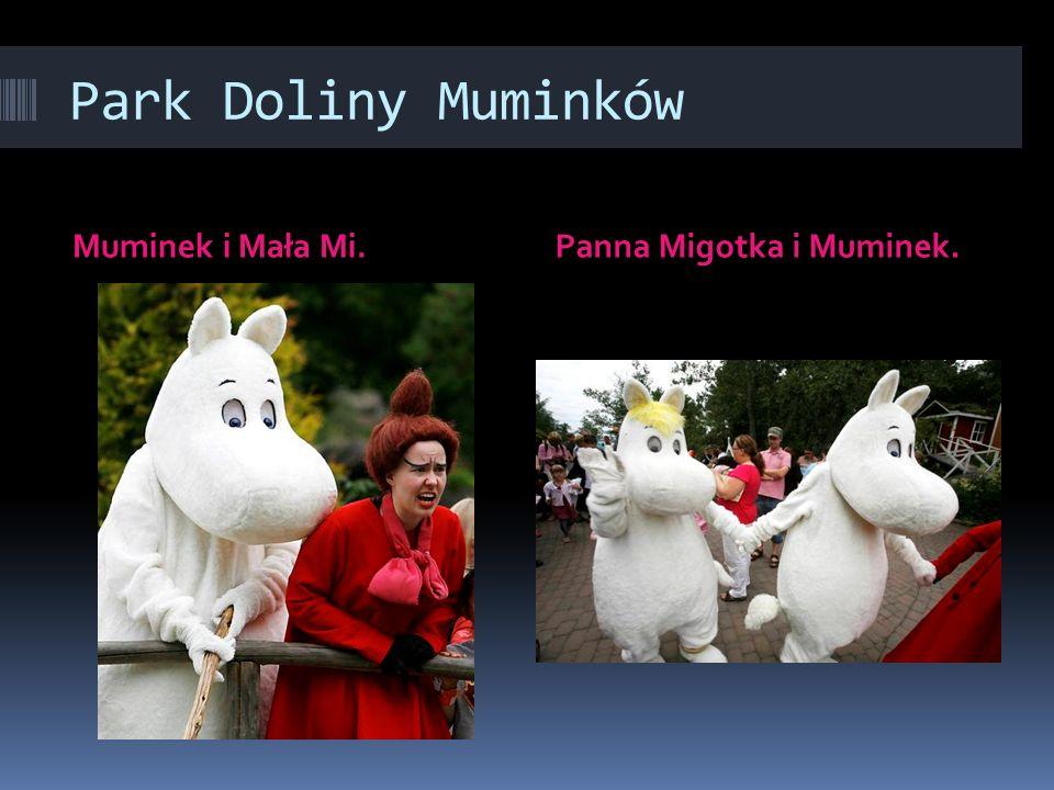 Park Doliny Muminków Muminek i Mała Mi. Panna Migotka i Muminek.
