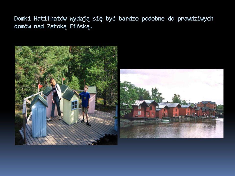 Domki Hatifnatów wydają się być bardzo podobne do prawdziwych domów nad Zatoką Fińską.