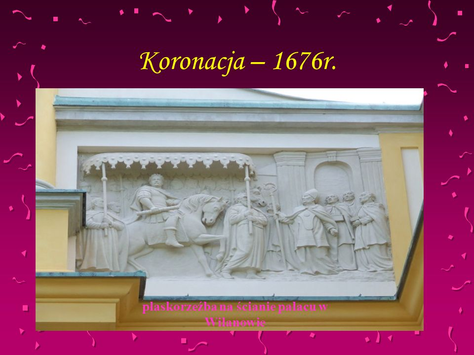 płaskorzeźba na ścianie pałacu w Wilanowie