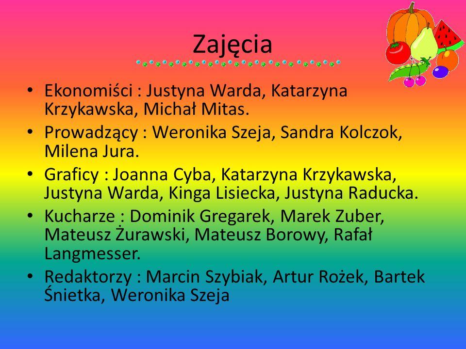 Zajęcia Ekonomiści : Justyna Warda, Katarzyna Krzykawska, Michał Mitas. Prowadzący : Weronika Szeja, Sandra Kolczok, Milena Jura.