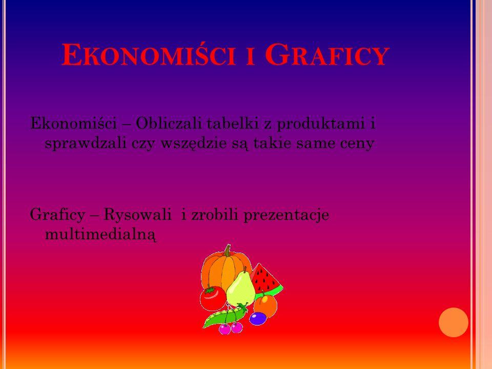 Ekonomiści i Graficy Ekonomiści – Obliczali tabelki z produktami i sprawdzali czy wszędzie są takie same ceny.