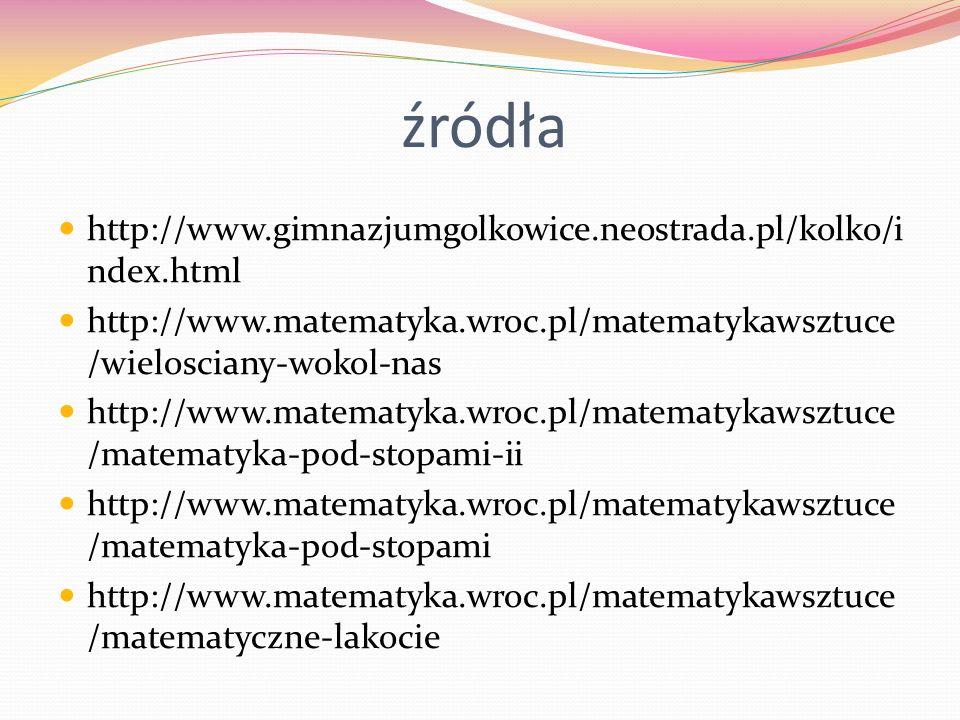 źródła http://www.gimnazjumgolkowice.neostrada.pl/kolko/index.html
