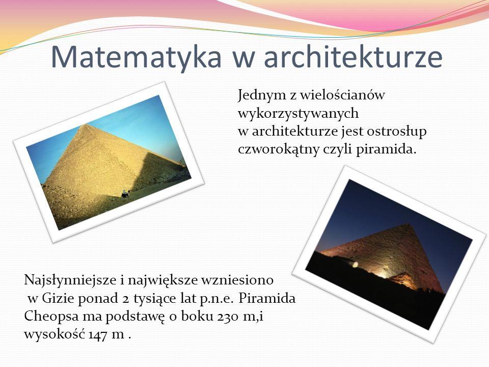 Matematyka w architekturze