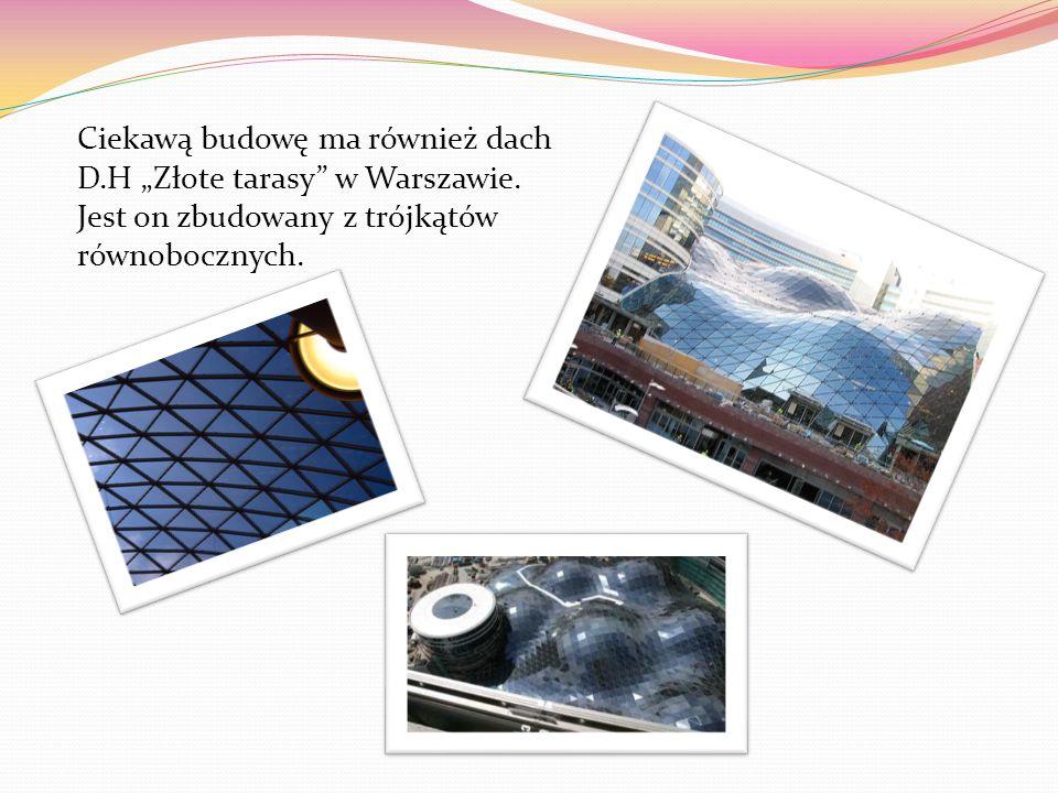 """Ciekawą budowę ma również dach D. H """"Złote tarasy w Warszawie"""