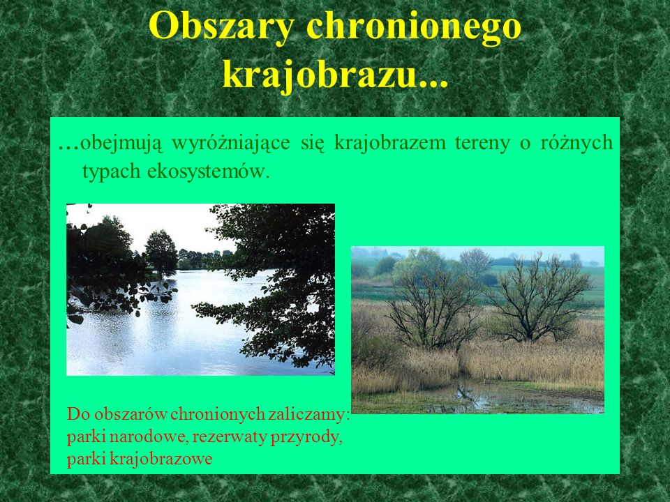 Obszary chronionego krajobrazu...