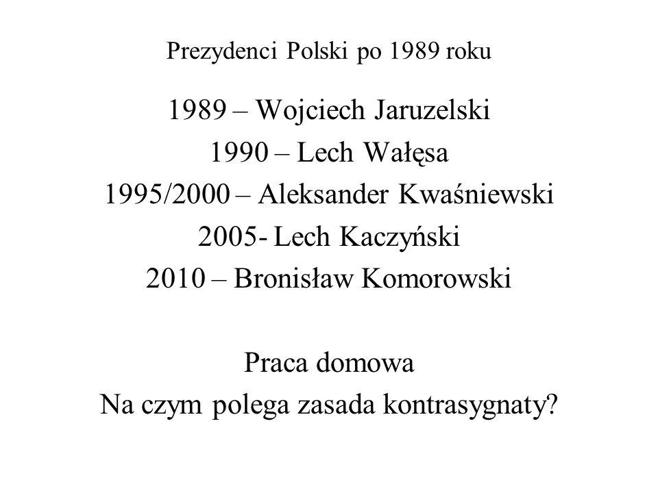 Prezydenci Polski po 1989 roku