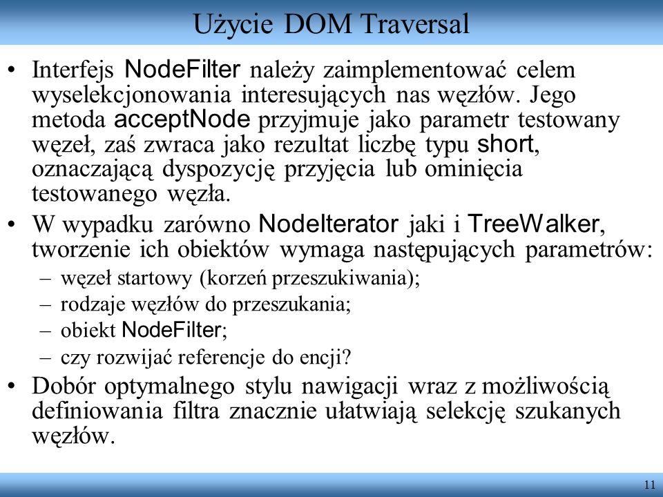 Użycie DOM Traversal