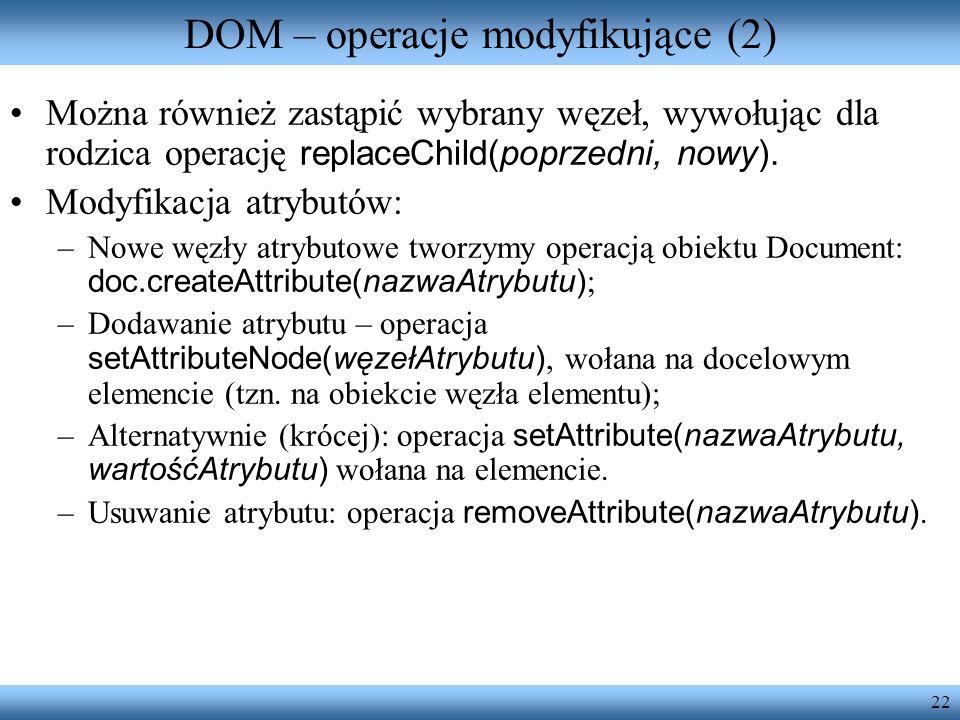 DOM – operacje modyfikujące (2)