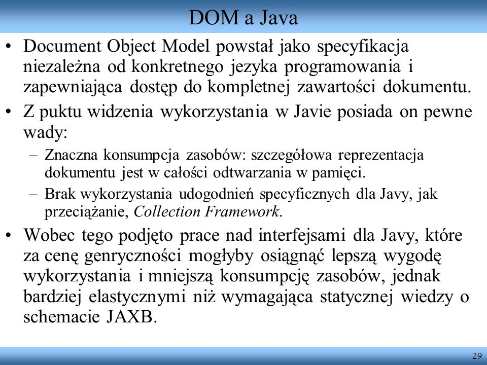 DOM a Java