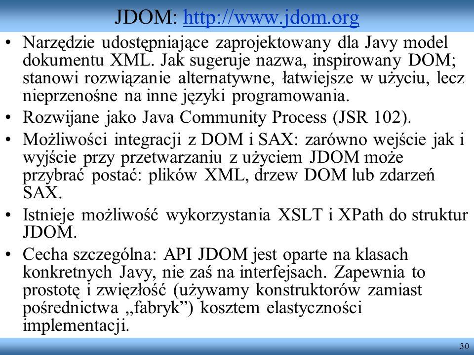 JDOM: http://www.jdom.org