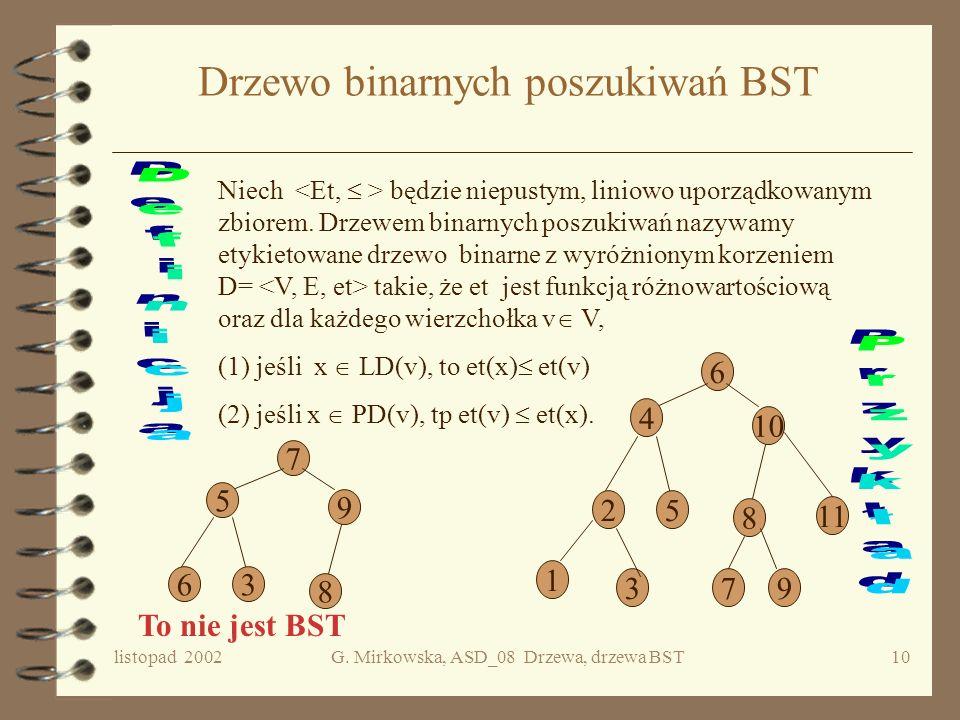Drzewo binarnych poszukiwań BST
