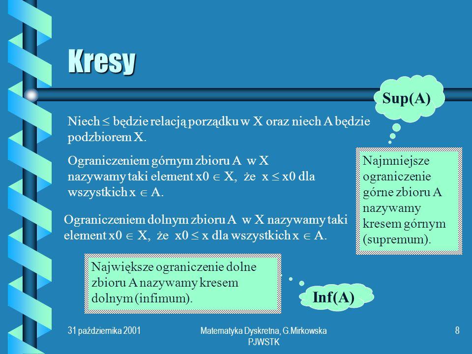 Matematyka Dyskretna, G.Mirkowska PJWSTK
