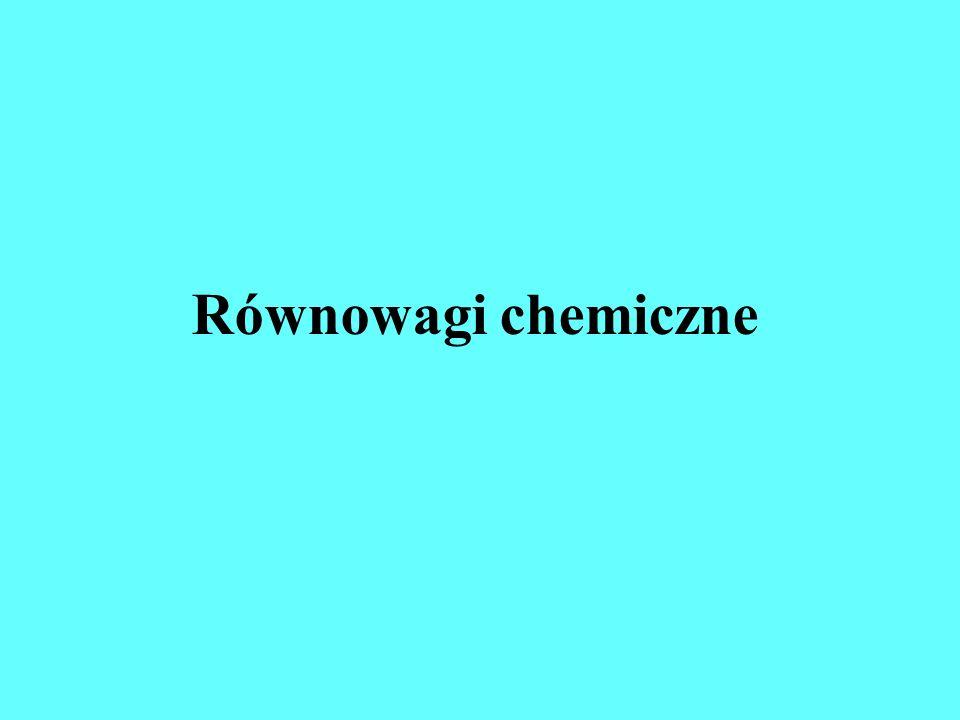 Równowagi chemiczne