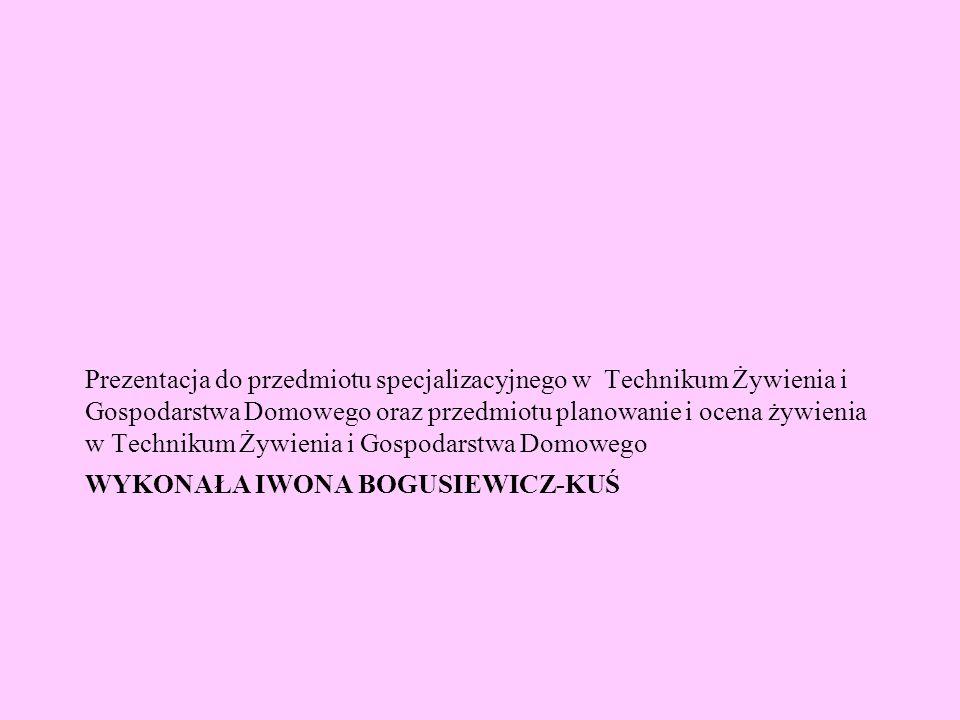 Wykonała Iwona Bogusiewicz-Kuś
