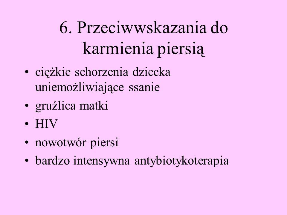 6. Przeciwwskazania do karmienia piersią