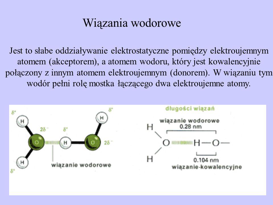Wiązania wodorowe