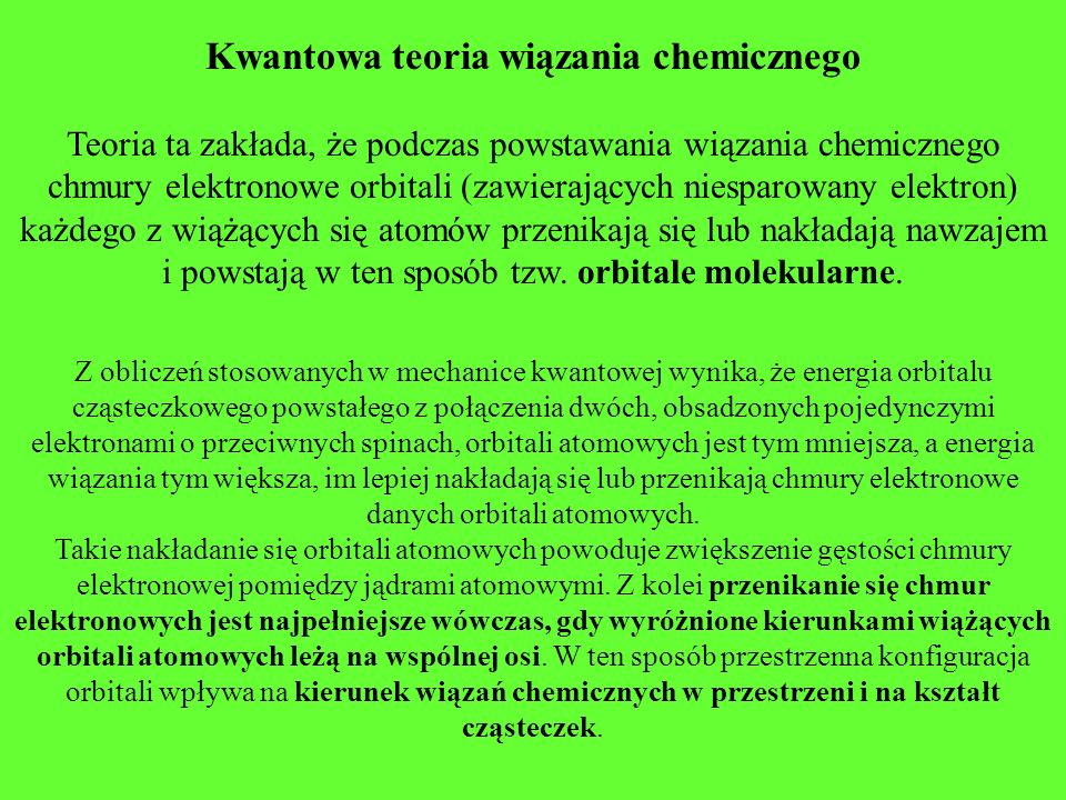 Kwantowa teoria wiązania chemicznego