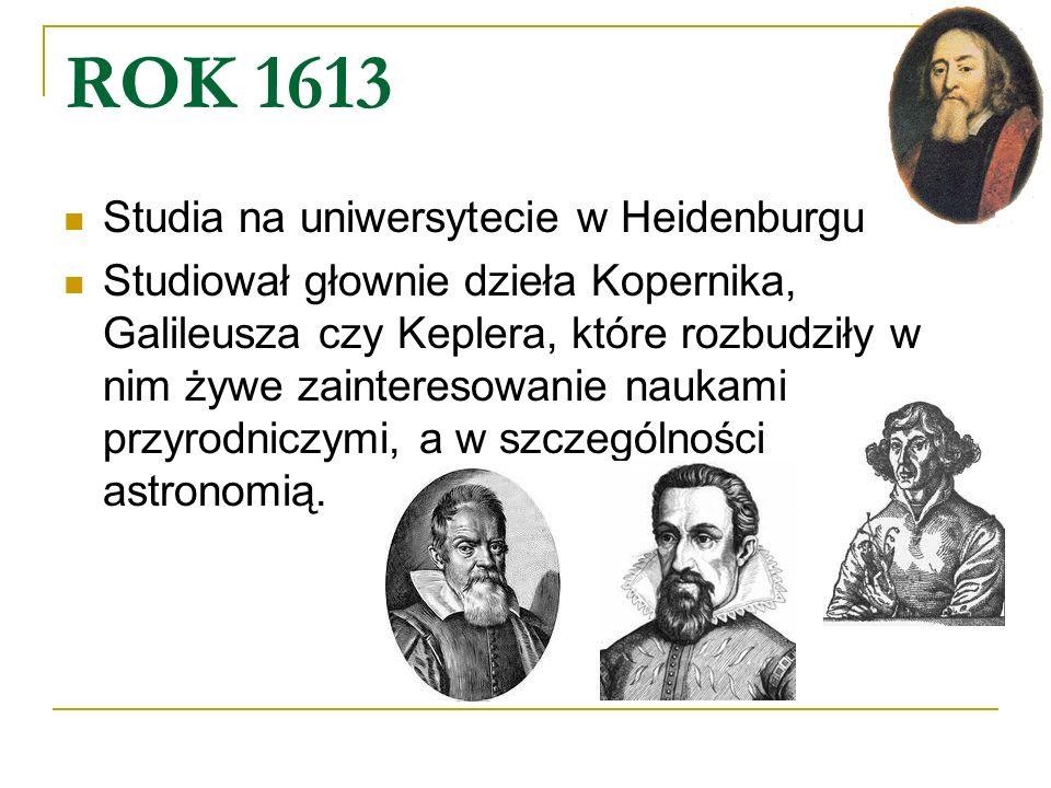 ROK 1613 Studia na uniwersytecie w Heidenburgu
