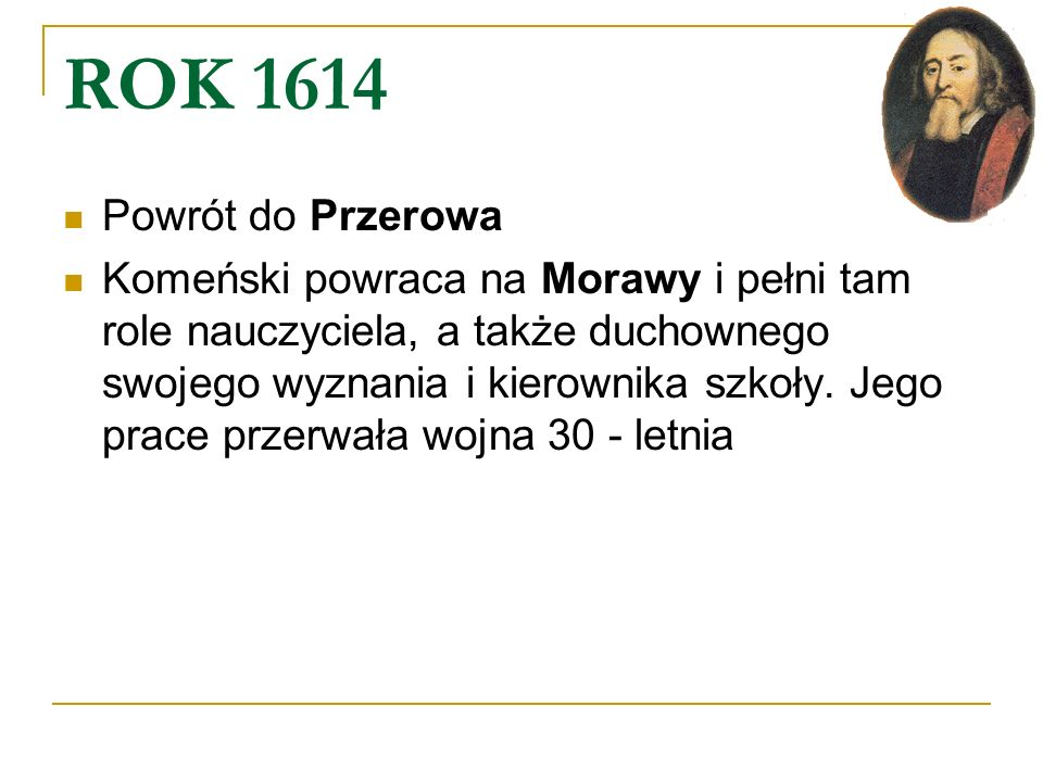 ROK 1614 Powrót do Przerowa.