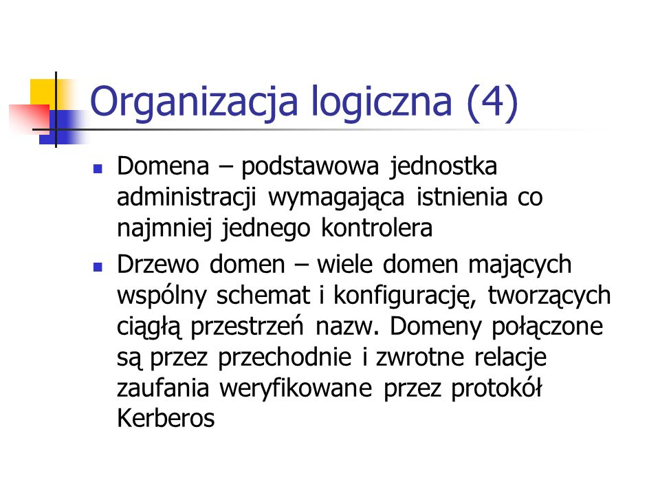 Organizacja logiczna (4)