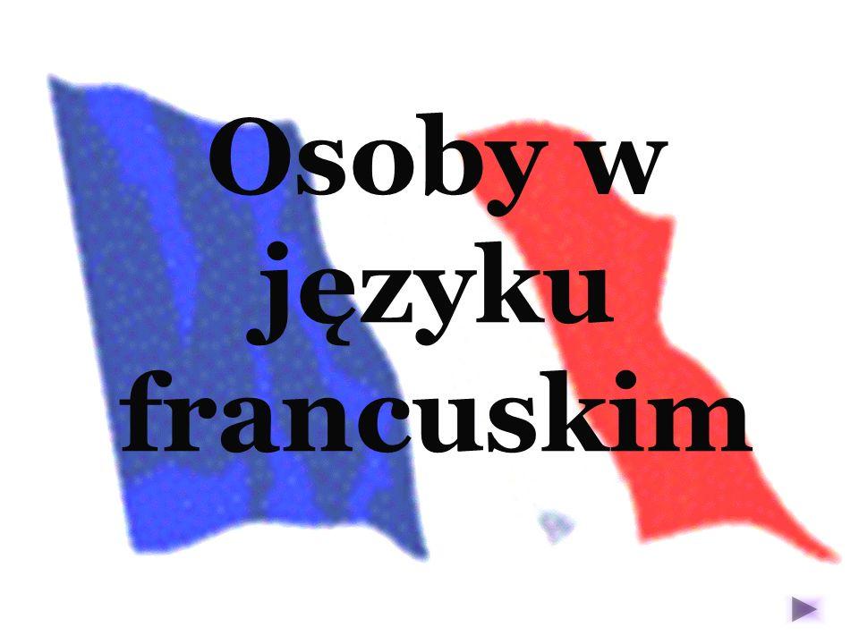 Osoby w języku francuskim
