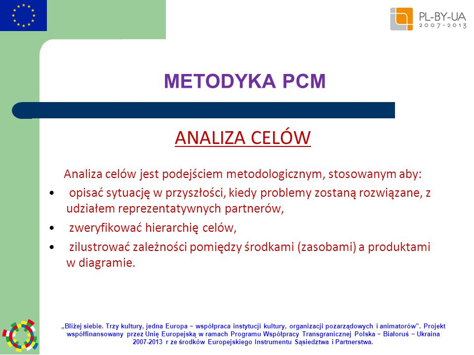 Analiza celów jest podejściem metodologicznym, stosowanym aby: