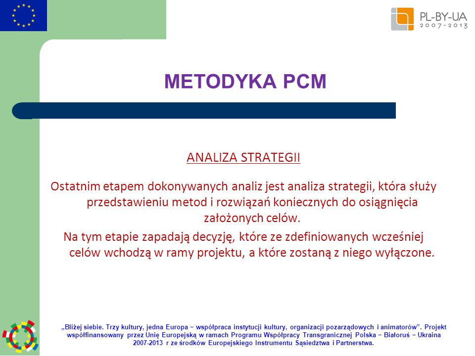 METODYKA PCM ANALIZA STRATEGII