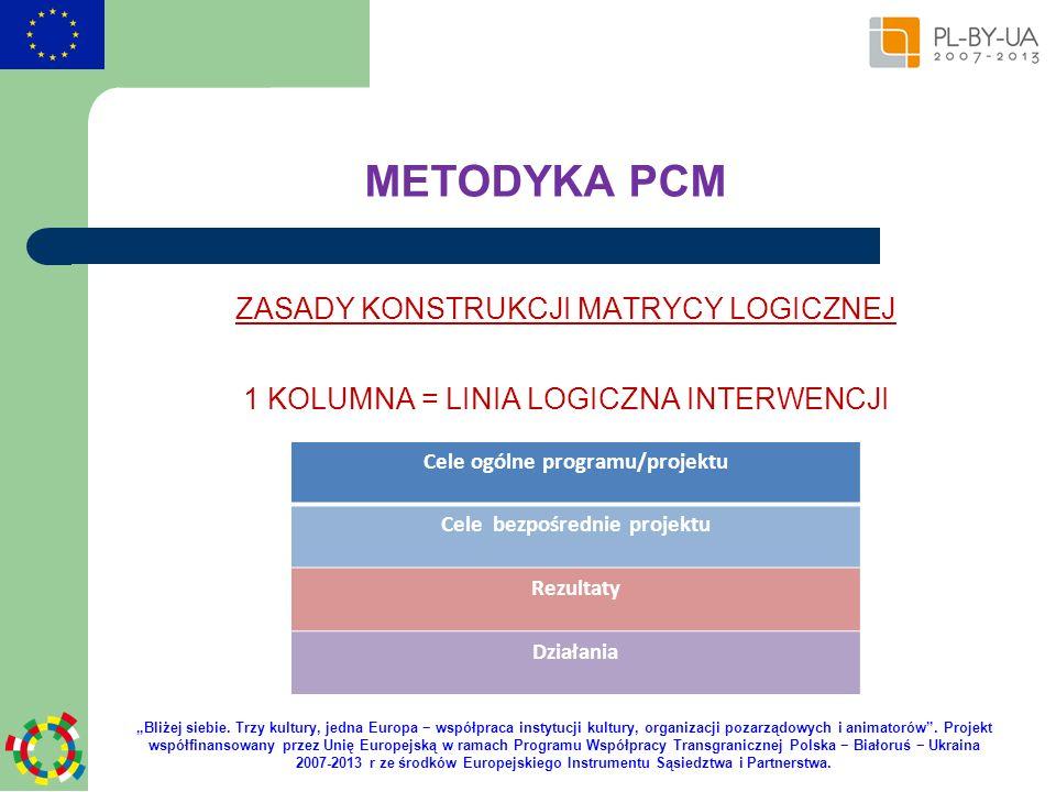 Cele ogólne programu/projektu Cele bezpośrednie projektu