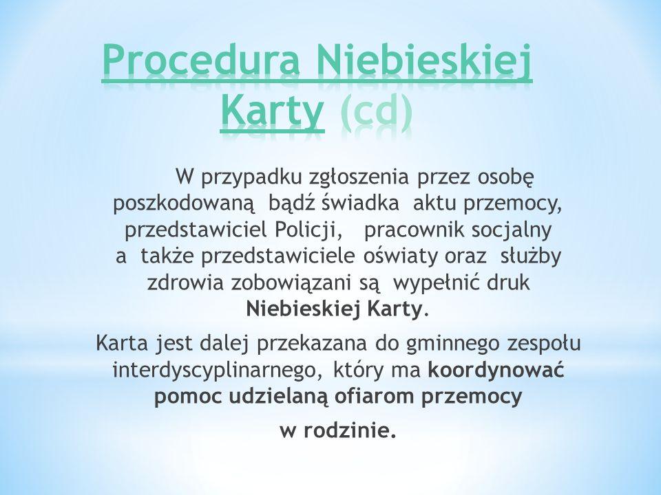 Procedura Niebieskiej Karty (cd)