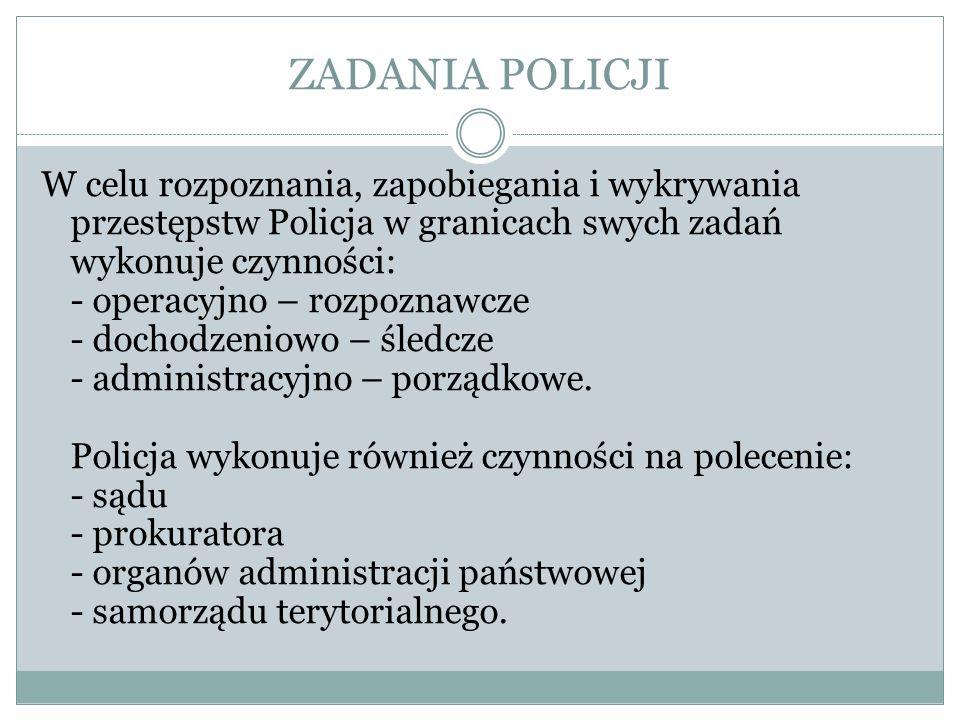 ZADANIA POLICJI