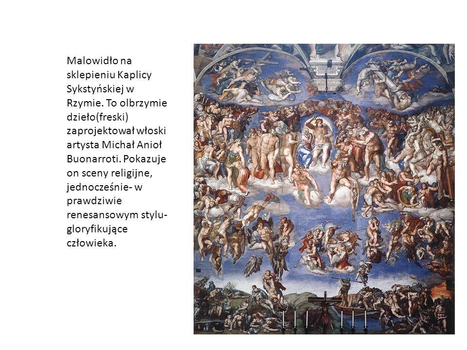 Malowidło na sklepieniu Kaplicy Sykstyńskiej w Rzymie