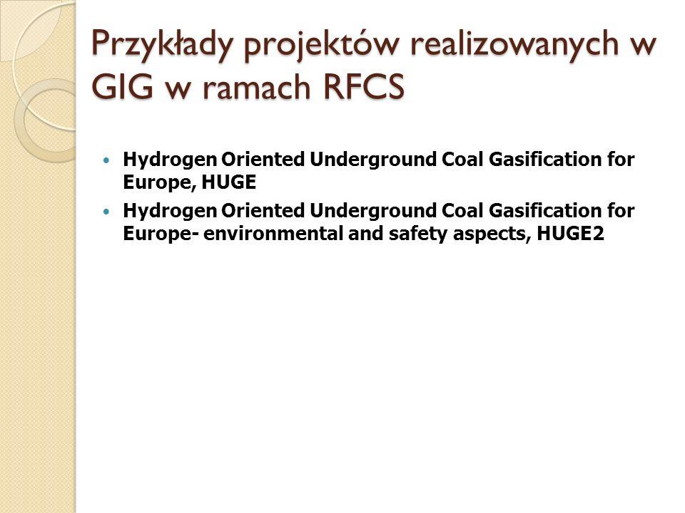 Przykłady projektów realizowanych w GIG w ramach RFCS