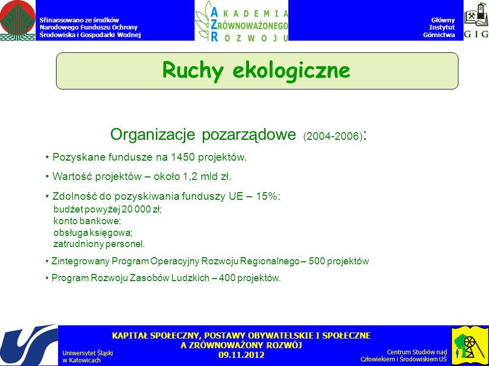 Organizacje pozarządowe (2004-2006):