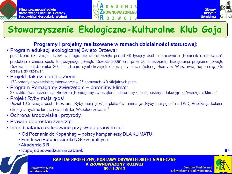 Stowarzyszenie Ekologiczno-Kulturalne Klub Gaja