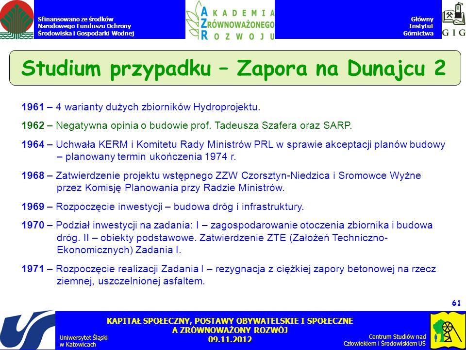 Studium przypadku – Zapora na Dunajcu 2