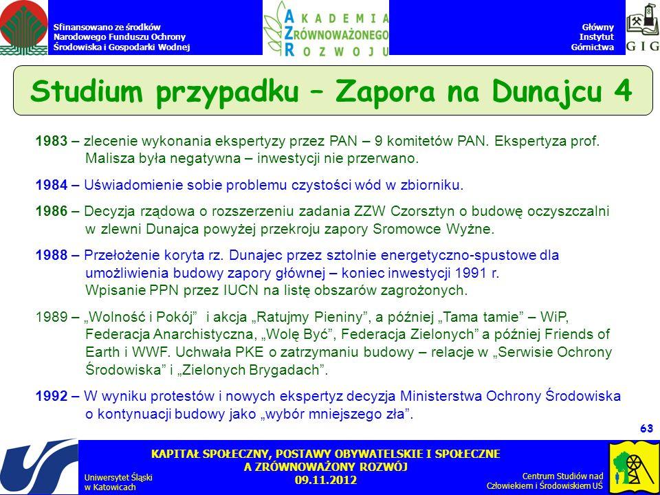 Studium przypadku – Zapora na Dunajcu 4
