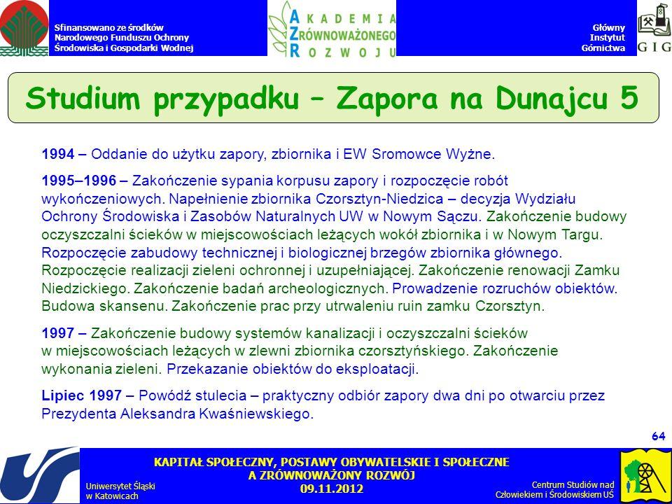 Studium przypadku – Zapora na Dunajcu 5