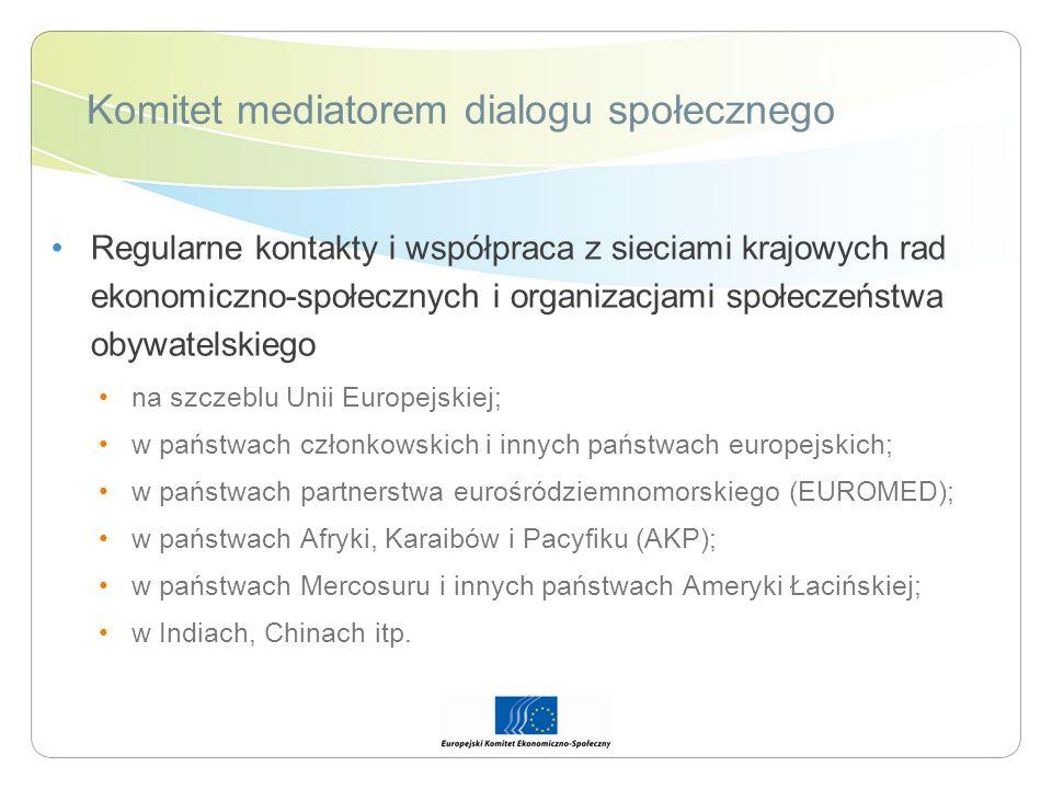 Komitet mediatorem dialogu społecznego