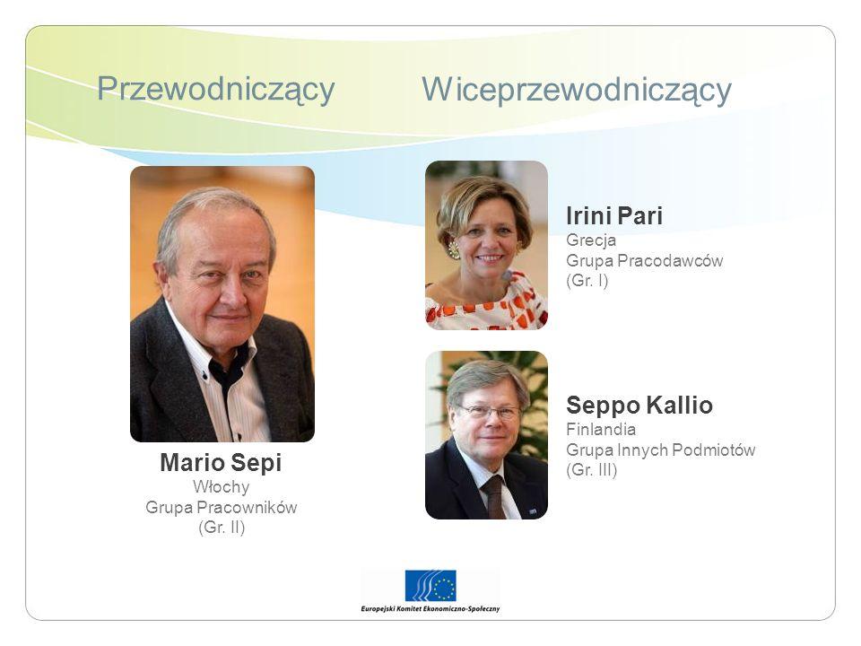 Przewodniczący Wiceprzewodniczący Irini Pari Seppo Kallio Mario Sepi