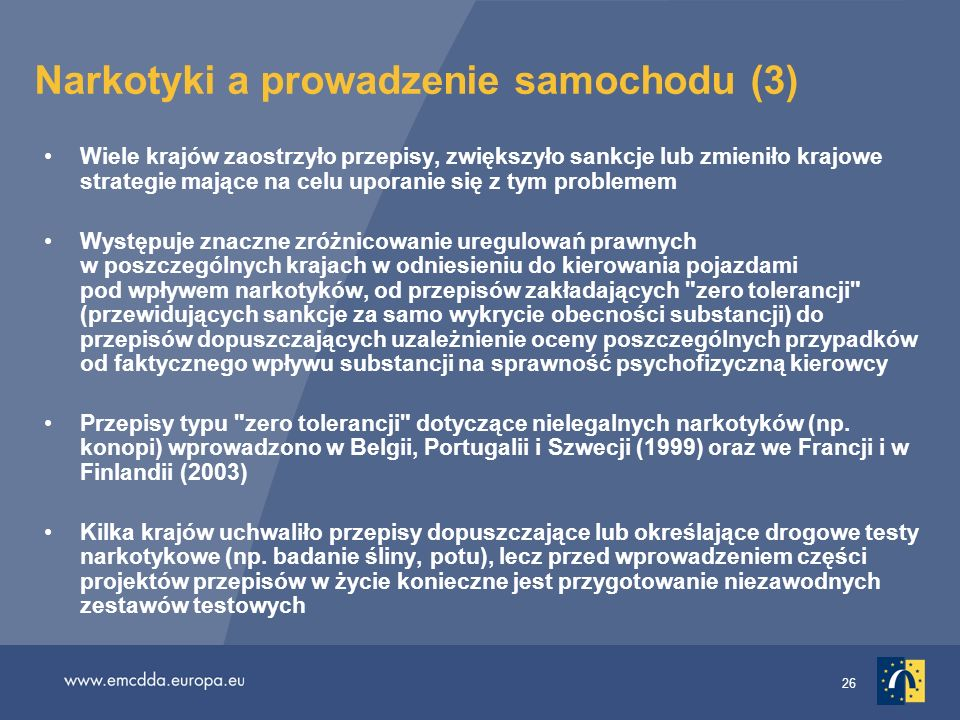 Narkotyki a prowadzenie samochodu (3)