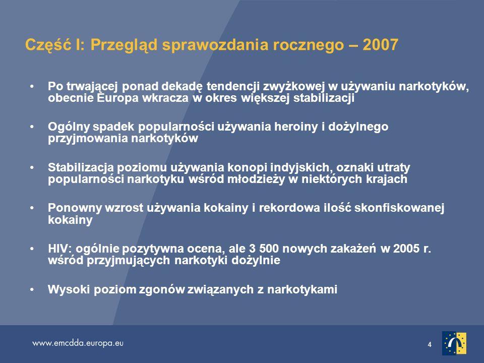Część I: Przegląd sprawozdania rocznego – 2007