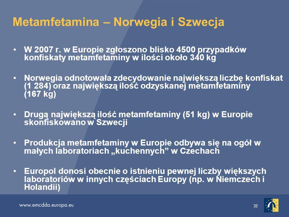 Metamfetamina – Norwegia i Szwecja