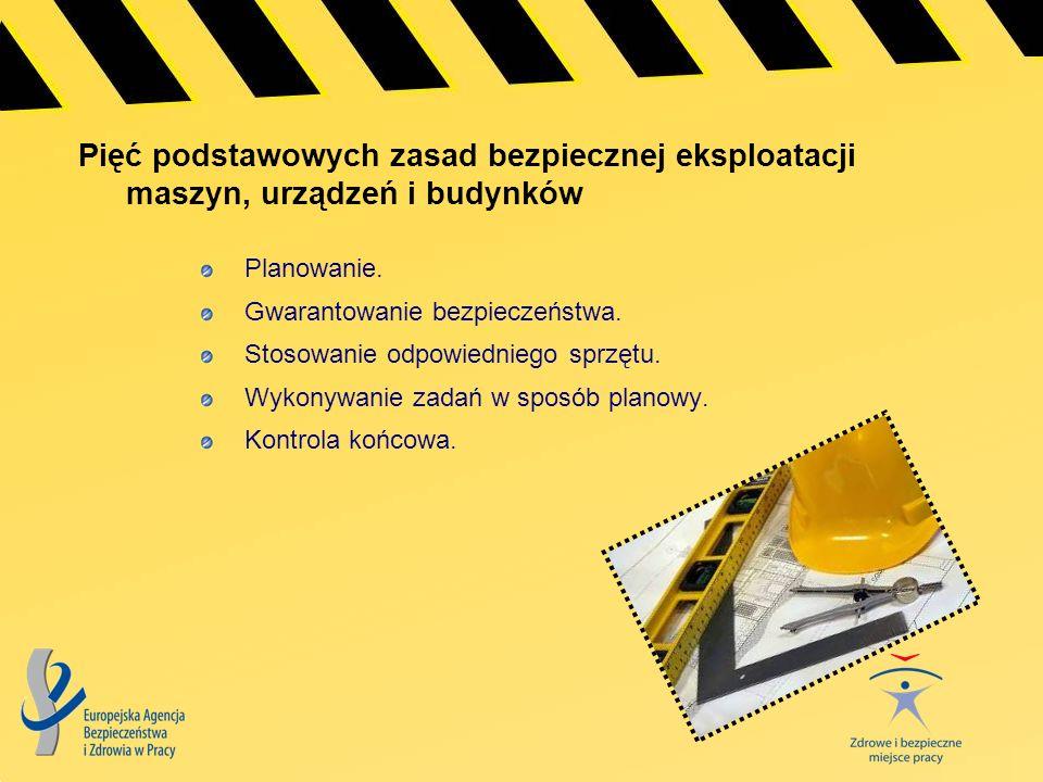 Pięć podstawowych zasad bezpiecznej eksploatacji maszyn, urządzeń i budynków