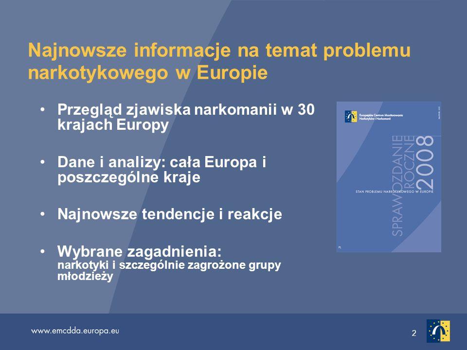 Najnowsze informacje na temat problemu narkotykowego w Europie