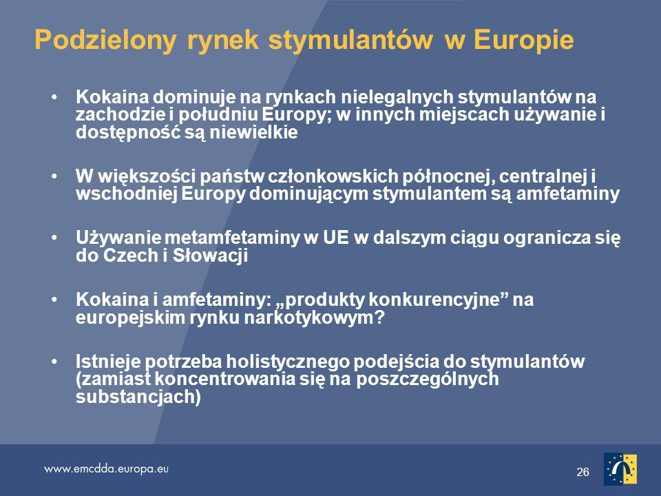 Podzielony rynek stymulantów w Europie